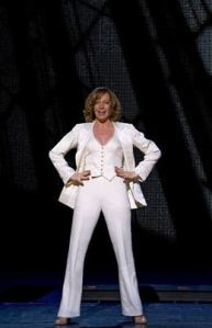 "Janney shines in her Act II number, ""One of the Boys"""